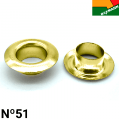 Ilhós de Ferro - Baxmann - Nº51 - C/1000und