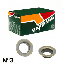 Ilhós de Ferro - C/Arruela Comum - Baxmann - Nº3 - C/200und