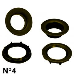 Ilhós de Ferro - C/Arruela C/Garra - Baxmann - Nº4 - C/200und