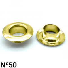 Ilhós de Latão - Baxmann - Nº50 - C/1000und