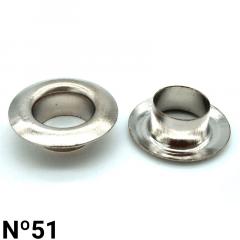 Ilhós de Latão - Baxmann - Nº51 - C/1000und