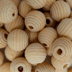 Miçanga de Madeira - Cru - 16mm - C/100und - Ref RO.150754