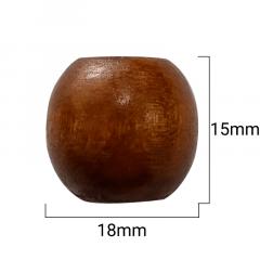 Ponteira Arredondada - Madeira Escura - 15mm - C/100und - Cód GXR-113