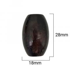 Ponteira Cilindro de Madeira Escura - 28mm - C/100und - Cód GXR-115