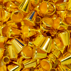 Ponteira Afunilada Sino - Dourada - 13mm - C/100und - Cód XR-005