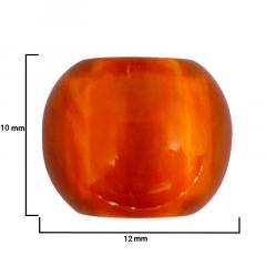 Ponteira Arredondada - Pérola Cobre - 12mm - C/100und - CÓD MOD.JB-908018