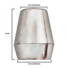 Ponteira Afunilada - Prata - 12mm - C/100und - Cód MSO-017
