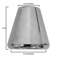 Ponteira Prata Afunilada - Sino - c/100und - Cód XR-005