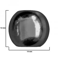Ponteira Resina - 14mm - Onix - C/ 100und