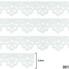 Renda Guipír - Arte Punto - 2,4cm - C/13,7m - Ref GP043