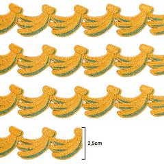 Renda Guipír - Bananas - 2,5cm - C/13,7m - Ref CHL-556-25