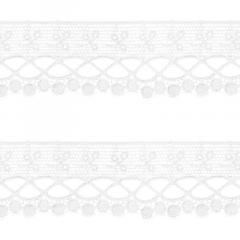 Renda Guipír - 6,5cm -  C/13,7m - Ref CHL-581