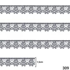 Renda Guipír - 1,5cm - C/13,7m - Ref CHL-653-15