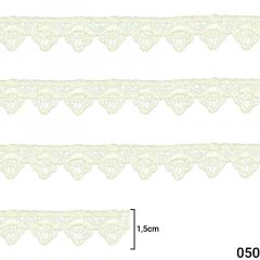 Renda Guipír - Arte Punto - 1,5cm - C/13,7M - Ref GP042