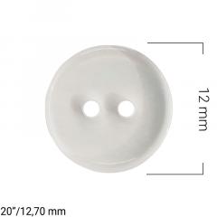 Botão Jaleco Transparente 2 furos - C/144und