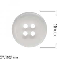 Botão de Jaleco Transparente - 4 Furos - C/ 144und