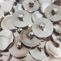 """Botão Abs - Pezinho - Prata - Modinha - Tam 34""""/21,59mm - C/200und"""