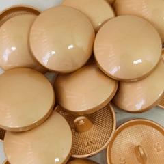 """Botão Pezinho Metal Abaulado - Dourado - Modinha - Tam 34""""/21,59mm - C/20und - Ref: JB 146"""