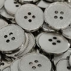 """Botão Abs - Pontilhado - Prata - 4 furos - Modinha - Tam  22""""/13,97mm - C/144und - Cód AM111440"""
