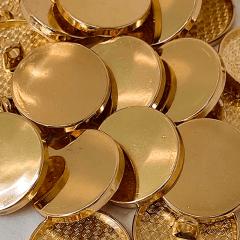 """Botão Pezinho Metal - Dourado - Modinha - Tam 34""""/21,59mm - C/20und - Ref: JB 145"""