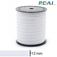 Elástico Chato - Branco - Real Short Light - 12mm - C/100M