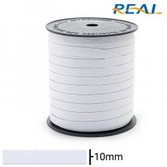 Elástico Chato - Branco - Real Short Light - 10mm - C/100M
