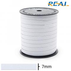 Elástico Chato - Branco - Real Short Ligth - 7mm - C/100M