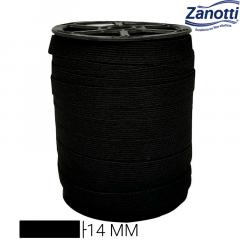 Elástico Chato Jaraguá 15 - Preto - Zanotti - 14mm - C/100M