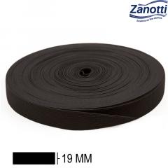 Elástico Chato Jaraguá 20 - Preto - Zanotti - 19mm - C/25M