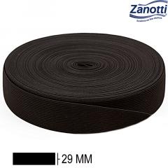 Elástico Chato Jaraguá 30 - Preto - Zanotti - 29mm - C/25M