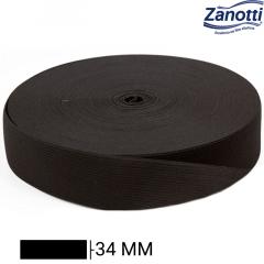 Elástico Chato Jaraguá 35 - Preto - Zanotti - 34mm - C/25M