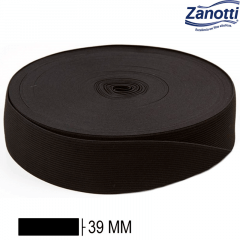 Elástico Chato Jaraguá 40 - Preto - Zanotti - 39mm - C/25M
