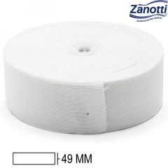 Elástico Chato Jaraguá 50 - Branco - Zanotti - 49mm - C/25M