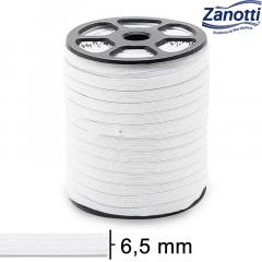 Elástico Chato Juiz 7 - Branco - Zanotti - 6,5mm - C/100M