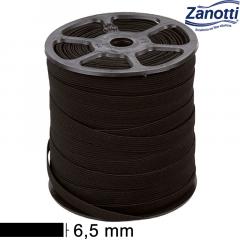 Elástico Chato Juiz 7 - Preto - Zanotti - 6,5mm - C/100M