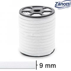 Elástico Chato Serval 12 - Branco - Zanotti - 9mm - C/100M