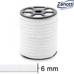 Elástico Chato Serval 8 - Branco - Zanotti - 6mm - C/100M