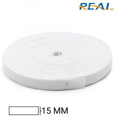 Elástico Chato Short Light - Branco - Real - 15mm - C/25m