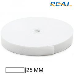 Elástico Chato Short Light - Branco - Real - 25mm - C/25m
