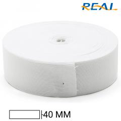 Elástico Chato Short Light - Branco - Real - 40mm - C/25m