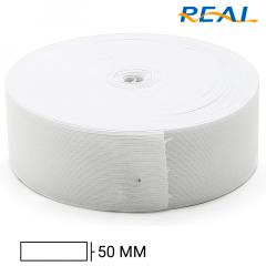 Elástico Chato Short Light - Branco - Real - 50mm - C/25m