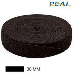 Elástico Chato Short Light - Preto - Real - 30mm - C/25m