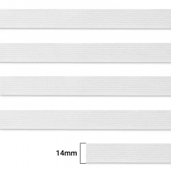 Elástico Chato Enfestado Jaraguá 15 - Branco - Zanotti - 14mm - CX C/2.000M