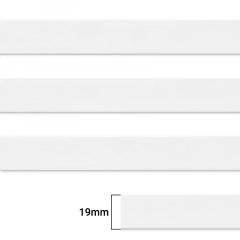 Elástico Chato Enfestado Jaraguá 20 - Branco - Zanotti - 19mm - CX C/1.800M
