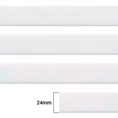 Elástico Chato Enfestado Jaraguá 25 - Branco - Zanotti - 24mm - CX C/1.400M