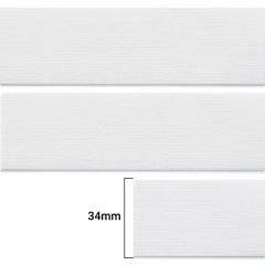 Elástico Chato Enfestado Jaraguá 35 - Branco - Zanotti - 34mm - CX C/1.000M