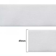 Elástico Chato Enfestado Jaraguá 50 - Branco - Zanotti - 49mm - CX C/800M
