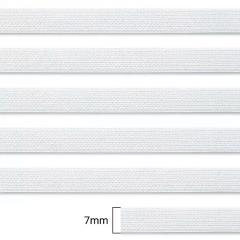 Elástico Chato Enfestado Jaraguá 8 - Branco - Zanotti - 7mm - CX C/2.000M