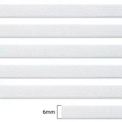 Elástico Chato Enfestado Pardal 7 - Branco - Zanotti - 6mm - CX C/2.000M