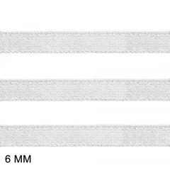 Elástico Clivia 6 - Branco - Zanotti - 6mm - C/50M
